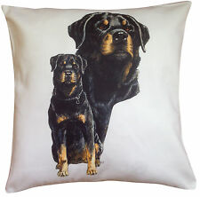 Rottweiler Group Breed of Dog Themed Cotton Cushion Cover - Perfect Gift
