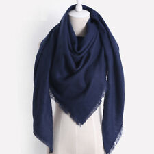 Women Shawl Wrap Scarf Cashmere-like Faux Wool Triangle Knitted Winter N7