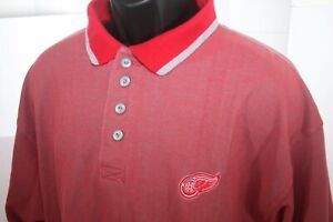 Detroit Red Wings Midwest Steel Red Polo Shirt w/ Metal Buttons Sz Mens XL Cadre