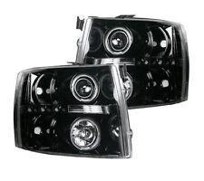 RECON 264195BK - 07-13 Chevrolet Silverado; Projector Headlights; Smoked