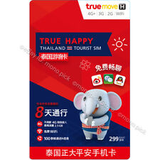 TrueMove H Tourist 3GB/8 Days 4G/3G Thailand Traveller Local PAYG Prepaid SIM