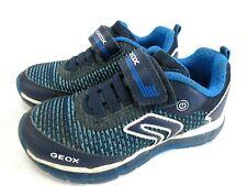 GEOX Halbschuhe Sneaker Leder Schuhe LED blau Gr. 28