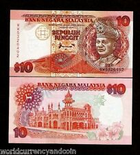MALAYSIA 10 RINGGIT P36 1995 KING FCO UNC WORLD CURRENCY MONEY BILL BANK NOTE