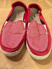 Womens Dr. Scholls Waverly Truelite Red White Canvas Casual Shoe Size 8.5M