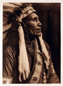 Native American Indian Portrait Raven Blanket Photo Art Print Picture