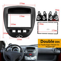 2 Din Car Stereo Fascia Panel Frame Trim Surround For Citroen C1 For Toyota Aygo