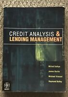 Wiley Credit Analysis and Lending Management Textbook James Bartle Milind