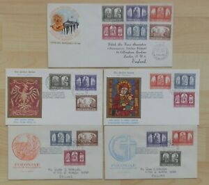 1966 Vatican FDC cover Selection Golden series + other issues Holiday Pope Paul