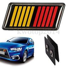 Front Grille Emblem Badge Red Yellow Black For RALLIART Lancer Evolution X K