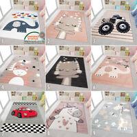 Childrens Bedroom Rug Kids Animal Boys Car Carpet Small Large Baby Play Room Mat