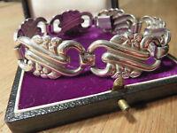 835 Silber Armband Designer  Floral Jugenstil Bauhaus Art Deco Top