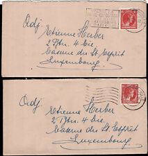 Luxemburg Luxembourg 1948  2 Briefe Charlotte nach Luxembourg Michel:361