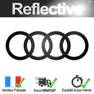 Adesivo Audi Nero Catarifrangente 16 CM Autoadesivo Logo Black Riflettente
