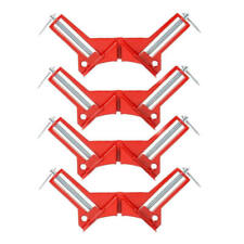 4x 90 Degree Right Angle Clip Clamps Corner Holder Woodworking Hand Tools Red gs