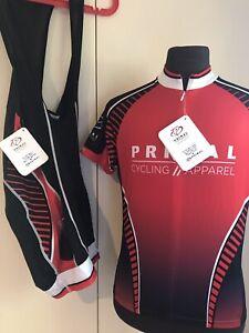 Primal Wear Cycling Kit Bib Shorts & Jersey Prisma & RAGLAN SZ M