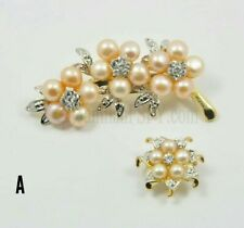 NEW!! Brooch Pearl Crystal Fresh Water Pin Accessories Women