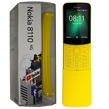 "New 2.4"" Nokia 8110 4G 2018 Yellow 4GB Single-SIM KaiOS Factory Unlocked 4G GSM"