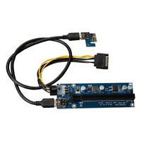 PCI-E to PCIE Adapter Board PCI-E 1X to 16X USB3.0 Extension Cable Image PC Z9F5