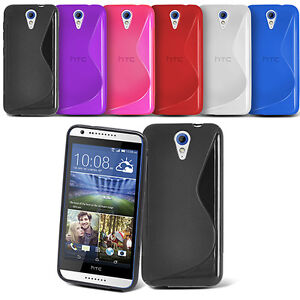 S-line Wave Silicone Gel Back Case Cover For Various HTC Desire Mobile phone