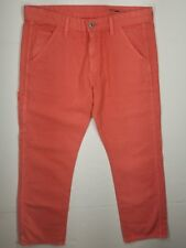 AG Cropped Pants Standard Issue Workwear Canvas Weave 27R  Adriano Goldschmied