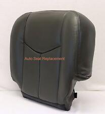 2003 2004 2005 2006 Chevy Silverado Driver Bottom Leather Seat Cover Dark Gray