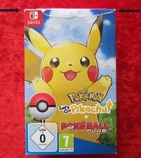 Pokemon Let's Go Pikachu! + pokeball Plus, Nintendo switch juego, nuevo-en su embalaje original