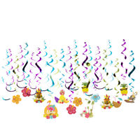 Hawaiian Party Decor 30 Pcs Luau Hanging Swirls for Summer Pool Beach Party