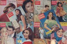 Lot/ 10 numéros revue Bonnes Soirées de 1956 à 1958 - Sylvie par Martial