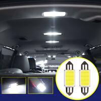 2x LED White COB 39mm Festoon Car Interior Lights Dome Map Reading Lamp Bulbs