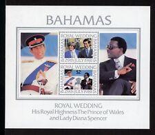 Bahamas Scott #491a MNH S/S Prince Charles Lady Diana Wedding CV$7+