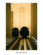 Cable Cars San Francisco Mitchell Funk California  Print Poster 22x28