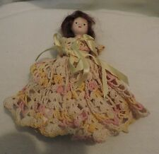Vintage Doll with Hand Woven Dress and Bonnet