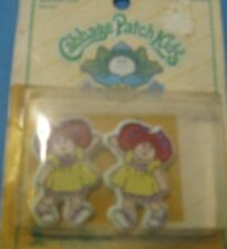 Vintage Cabbage Parch Kids barrettes new in box. metal backs.
