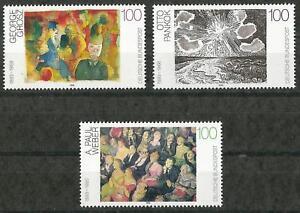 Germany 1993 MNH - Art - Paintings 20th C George Grosz Otto Pankok Paul Weber