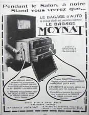 PUBLICITÉ DE PRESSE 1923 LE BAGAGE D'AUTO MOYNAT MALLETTES