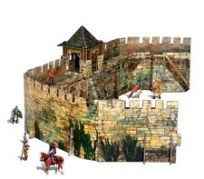Cardboard model kit. The medieval town. Fortification. Wargame landscape.