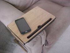 Table Tray Arm Rest TV Remote Tablet Stand Coffee Dinner Serving Couch Sofa Wrap