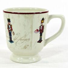 Williams-Sonoma NUTCRACKER 14oz Pedestal Mug Cup Christmas Holiday Cream