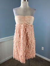 J Crew Collection Light Pink Strapless Ruffle Dress Cocktail Party S M Excellent