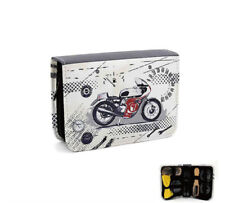 Shoe Cleaning Kit ZIPPED Pouch Motorbike Design Case Bag Travel Gift Christmas