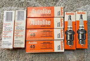8 NOS Autolite BRF42 Powertip Spark Plugs 18 mm = AC R48TS Champion RF-11Y