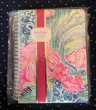 Lilly Pulitzer Spiral-Bound Mini Notebook Featured in Beach Please Plastic Cover