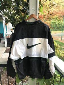 Vintage Nike Size XL Windbreaker Jacket Big Swoosh White Tag
