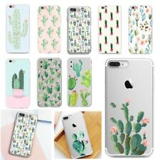 Cactus Plant Pattern Phone Case Ultra-Thin Soft TPU Silicone Cover For iPhone LG