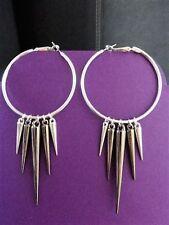 Mixed Metals Handmade Hoop Costume Earrings