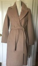 NEW H&M HM Woman's Wool Blend Jacket Coat Camel Tan sz 2
