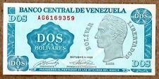 "Venezuela UNC Note 2 Bolivares Bs October 1989 P-69 Prefix AG7 ""Tinoquito"""