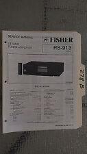 Fisher rs-913 service manual original repair book stereo receiver tuner radio