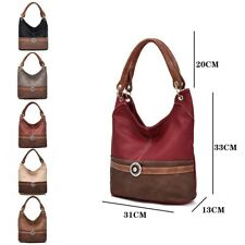 Womens Designer Office Faux Leather Tote Bag Ladies Shoulder Handbag