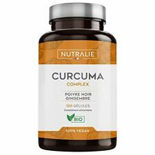 Curcuma BIO 100% naturel Association optimale de Curcuma Poivre noir 120 gélules